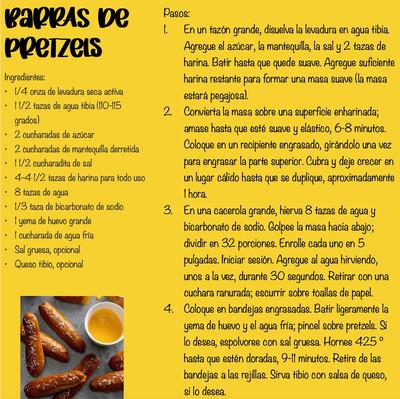 Barras de pretzels