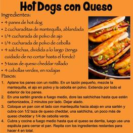 Hot Dogs con Queso