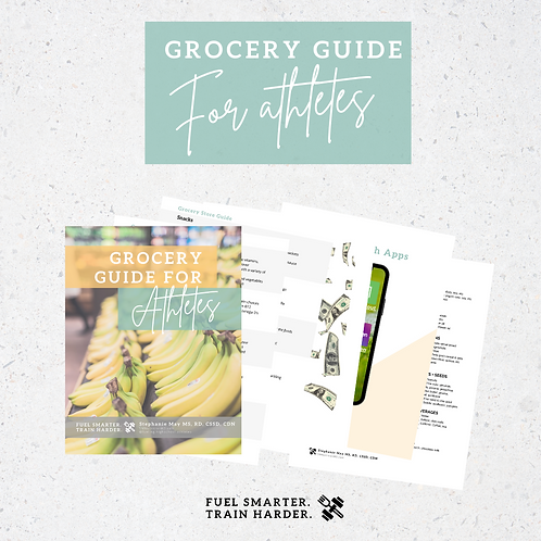 Athlete Grocery Guide BONUS DOWNLOAD INCLUDED
