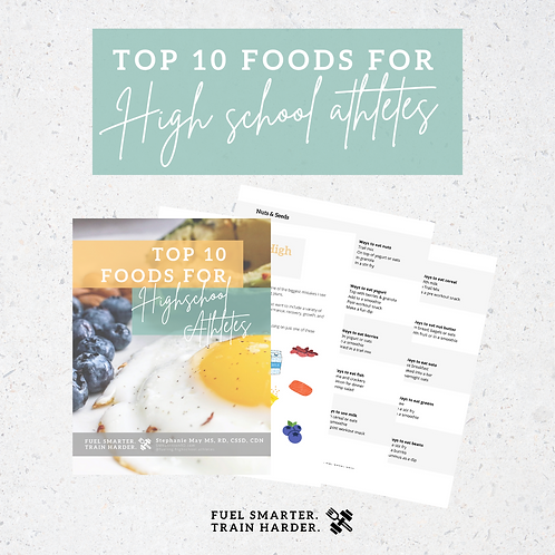 Top 10 foods for High school athletes