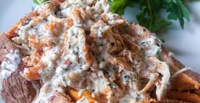 Buffalo Chicken Stuffed Sweet Potato-Whole30, Paleo