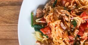 Spaghetti Squash with Rosa Sauce- Whole30, Paleo