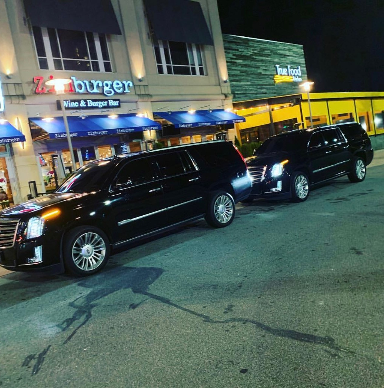 Cadillac Escalades on a birthday