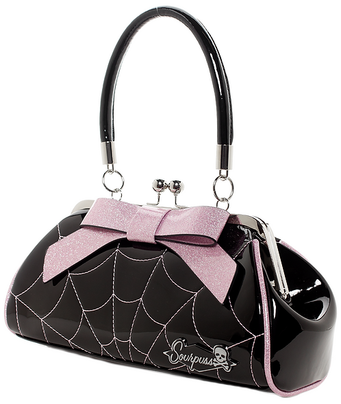 Sac à main SpiderWeb Pink/Black Sourpuss