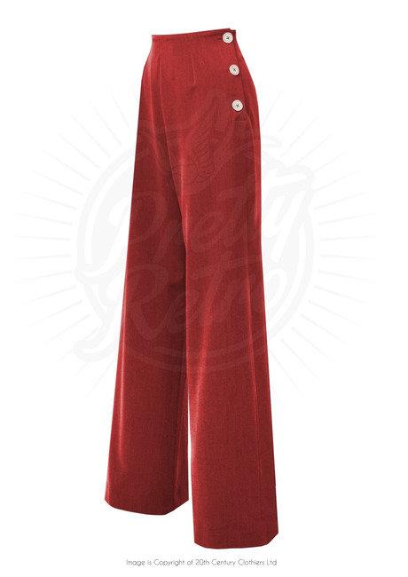 Pretty 40's Swing Pants - Red