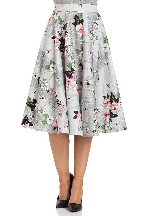 Jupe Florale Grey/Pink - Voodoo Vixen