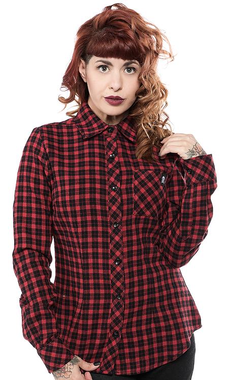 Chemise Flanelle à carreaux Noir/Rouge Sourpuss