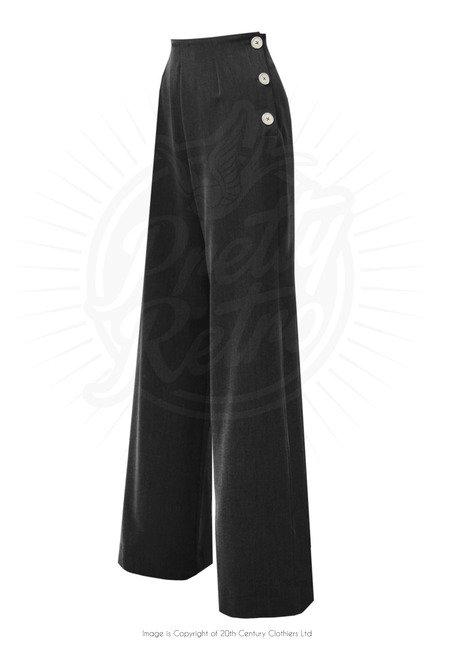 Pretty 40's Swing Pants - Black