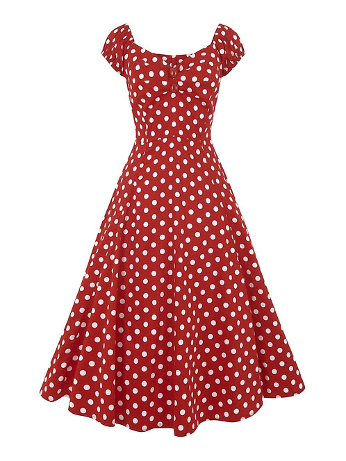 Dolores Baby Doll Rouge Pois - Collectif