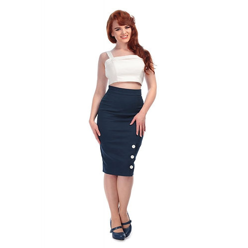 Jupe Chacha Navy - Collectif