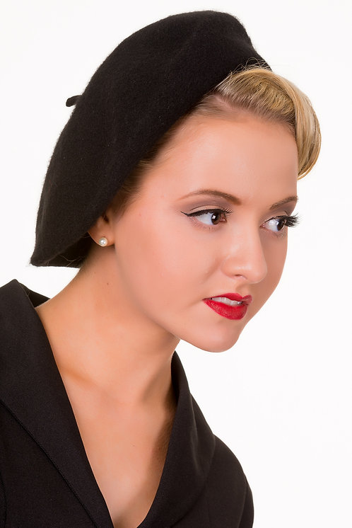 Vintage Claire Hat - Black
