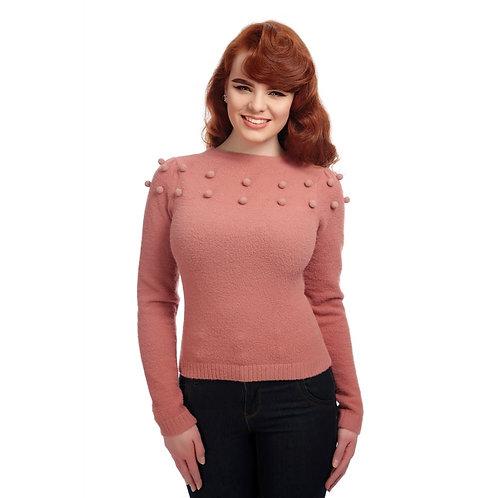 Pull Barbara Pom-Pom Rose - Collectif