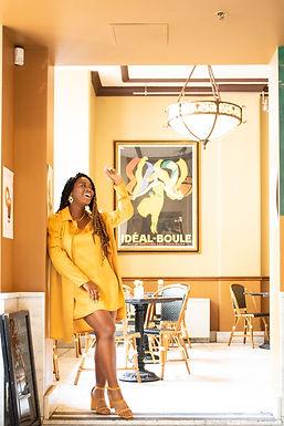 Yellow Satin Cami Dress