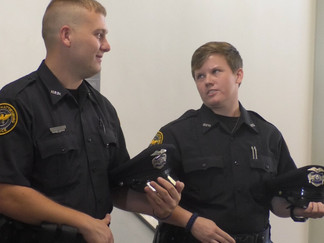 Hattiesburg Police Department Swears in Two More Officers with Lateral Transfers
