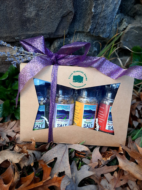 Tryon Mountain Farms Salts Gift Set (Lavender White Wine)