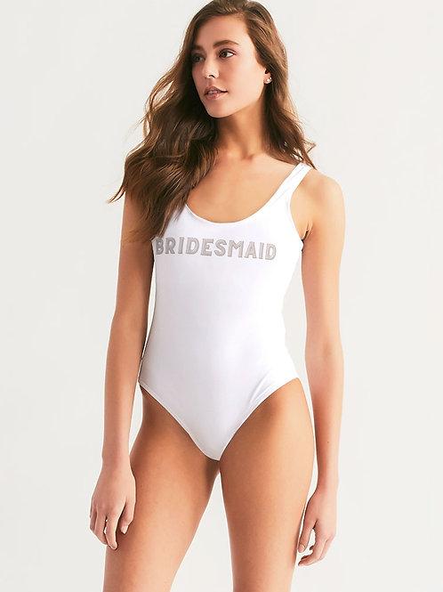 BRIDESMAID - Retro Blush One-Piece Swimsuit
