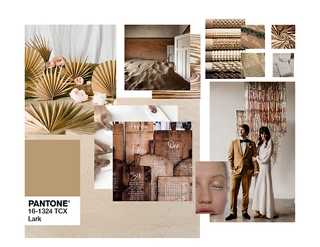 Pantone 2020 Lark Event Design Decor Mood Board