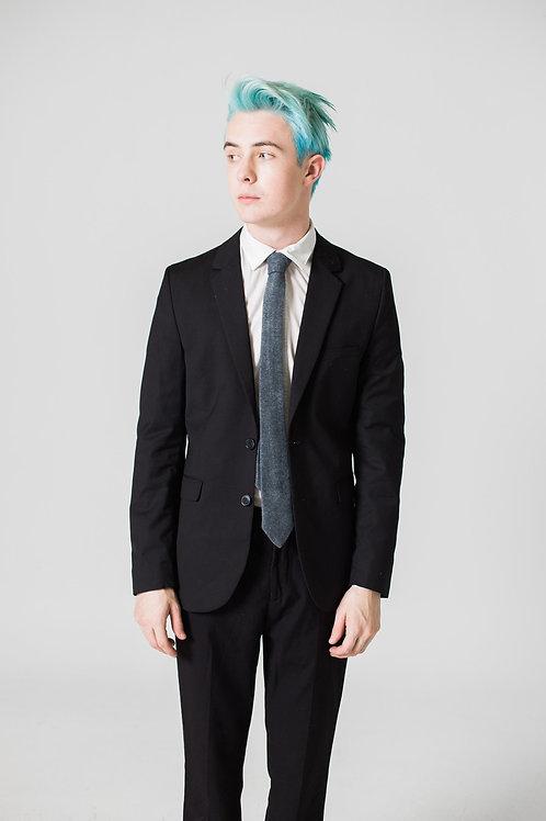 Wool Felt Charcoal Tie