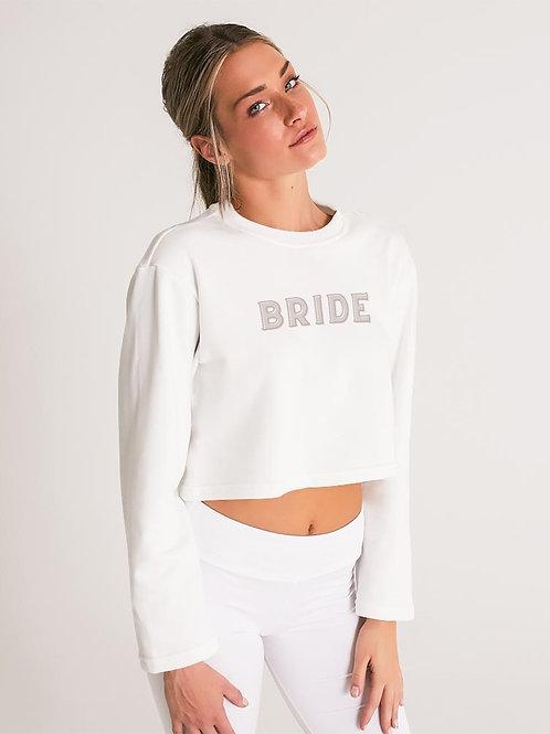 BRIDE - retro blush Cropped Sweatshirt