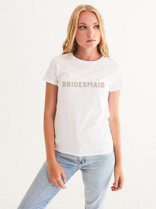 BRIDESMAID - retro blush Graphic Tee