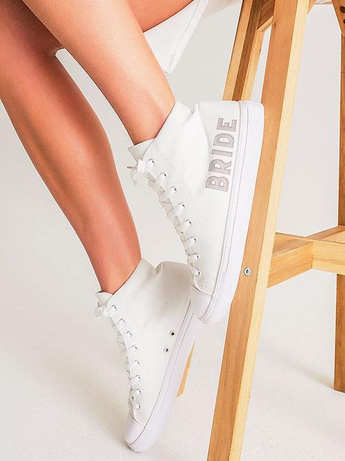 BRIDE - retro blush Hightop Canvas Shoe