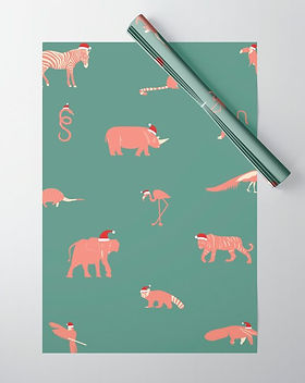 christmas-party-animals-wrapping-paper.j