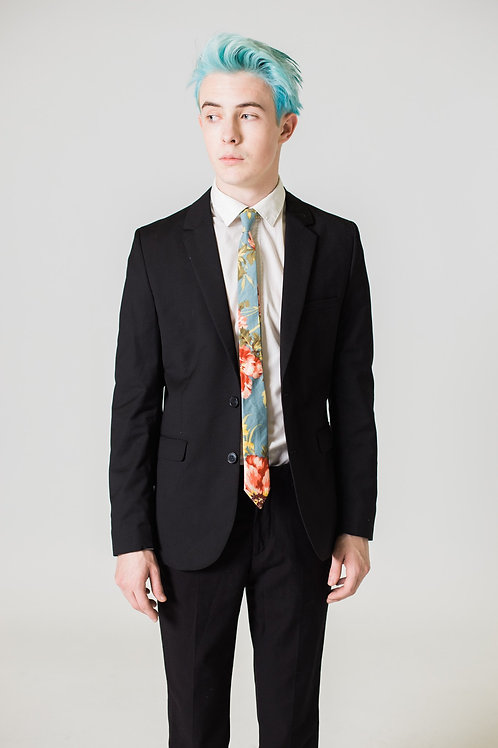 Sky Blue Floral Tie