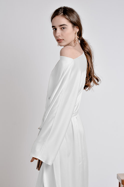 The Draped Midi Dress