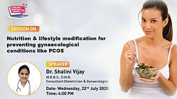 Nutrition & lifestyle modification for preventing gynecology conditions like PCOS