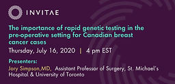 The importance of rapid genetic testing in the pre-operative setting for Canadian breast cancer cases