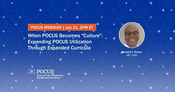 """When POCUS Becomes """"Culture"""": Expanding POCUS Utilization Through Expanded Curricula"""