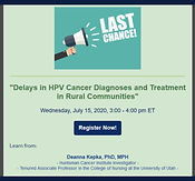 Delays in HPV Cancer Diagnoses and Treatment in Rural Communities