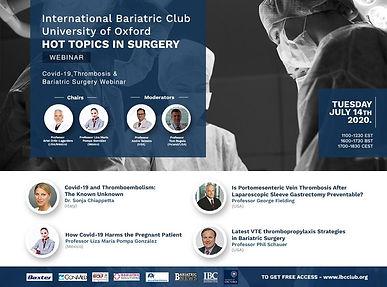 Covid-19, Thrombosis & Bariatric Surgery Webinar