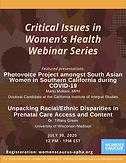 Critical Issues in Women's Health Webinar Series