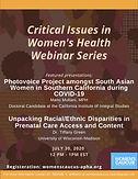 Critical Issues in Women's Health Webinar Series