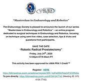 Masterclass in Endourology and Robotics
