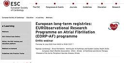 European long-term registries: EURObservational Research Programme on Atrial Fibrillation (EORP-AF) programme