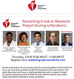 Restarting a Lab or Research Project During a Pandemic