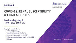 COVID-19: Renal Susceptibility and Clinical Trials