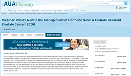 What's New in the Management of Hormone Naïve & Castrate Resistant Prostate Cancer (2020)