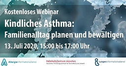 Kindliches Asthma: Familienalltag planen und bewältigen – Kostenloses Online-Seminar