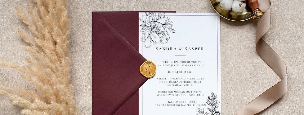 Invitation inkl. kuvert