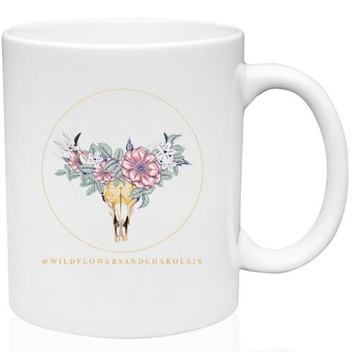 Wildflowers & Charolais 11 oz. Mug Full Color Logo