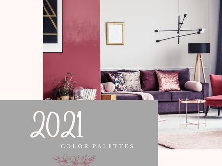2021 Color Palettes