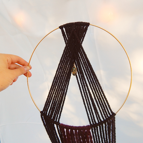 Healer: Circular Macrame feat. Crystal and Choice of 2 Colors