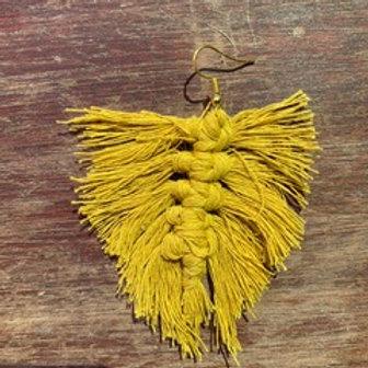 Macrame Feather Earrings