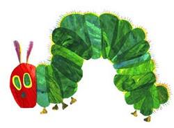 gele vlinder <-> groene rups