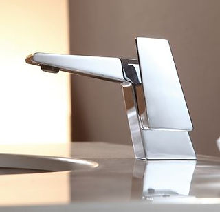 cheap modern faucet in Orlando flooring store