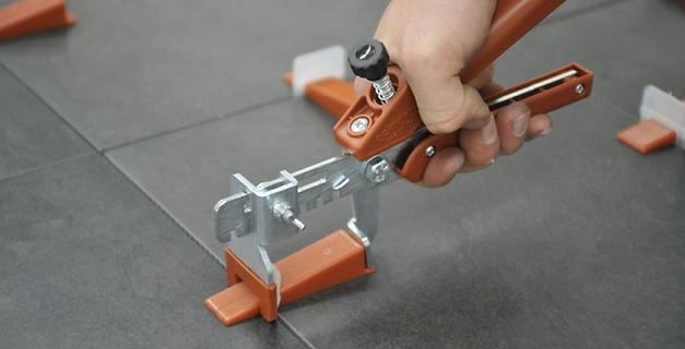 Raimondi leveling system tile installation tools in Orlando flooring store