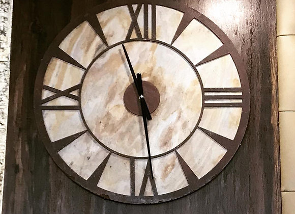Stone Background Rustic Wall Clock